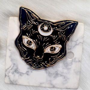 Lunar Third Eye Moon Sun Black Cat Goddess Face